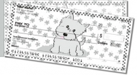 Click on Cute Cat & Dog Side Tear Personal Checks For More Details