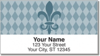 Click on Blue Fleur de Lis Address Labels For More Details