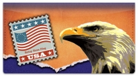 Click on Flag Stamp Checkbook Cover For More Details