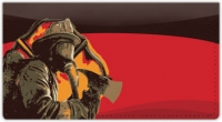 Click on Firefighter Hero Checkbook Cover For More Details