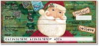 Click on Folk Christmas Personal Checks For More Details