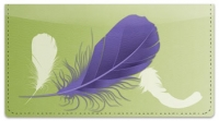 Click on Fancy Feather Checkbook Cover For More Details