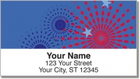 Click on Patriotic Fireworks Address Labels For More Details