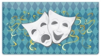 Click on Drama Mask Checkbook Cover For More Details