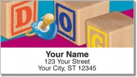 Click on Baby Block Address Labels For More Details