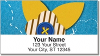 Click on Button Flower Address Labels For More Details