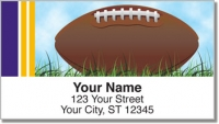 Click on Purple & Yellow Fan Football Address Labels For More Details