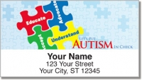 Click on Autism Awareness Address Labels Personal Checks For More Details
