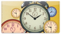 Click on Clock Face Checkbook Cover For More Details
