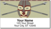 Click on African Tribal Mask Address Labels For More Details