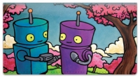 Click on Robots In Love Checkbook Cover For More Details