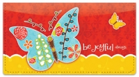 Click on Be Joyful Checkbook Cover For More Details