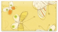 Click on Sepia Butterflies Yellow Checkbook Cover For More Details