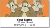 Click on No Evil Monkey Address Labels For More Details