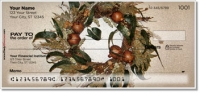 Click on Autumn Wreath Personal Checks For More Details