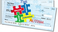 Click on Autism Awareness Side Tear Personal Checks For More Details