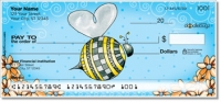 Click on Orange Daisies with Bees Personal Checks For More Details