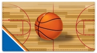 Click on Blue & Orange Basketball Checkbook Cover For More Details