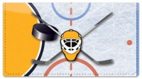 Click on Blue & Gold Hockey Checkbook Cover For More Details
