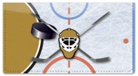 Click on Black & Gold Hockey Checkbook Cover For More Details