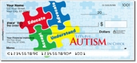Click on Autism Awareness Personal Checks For More Details