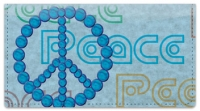 Click on Peace Sign Checkbook Cover For More Details