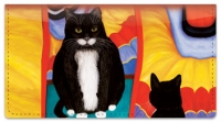 Click on Contemplating Cats 4 Checkbook Cover For More Details