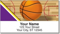 Click on Purple & Gold Basketball Address Labels For More Details