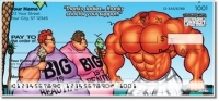 Click on Bodybuilder Cartoon Personal Checks For More Details