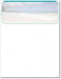 Click on Beach Scene Blank Check Stock For More Details