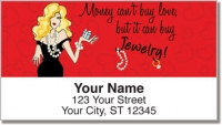 Click on Classic Working Girl Address Labels For More Details