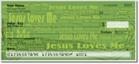 Click on Jesus Loves Me Personal Checks For More Details