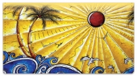 Click on Tropical Artwork Checkbook Cover For More Details