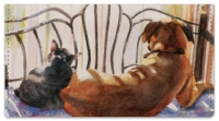 Click on Dog and Cat Painting Checkbook Cover For More Details