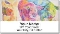 Click on Kay Smith Pig Address Labels For More Details