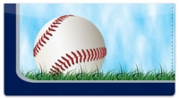 Click on Silver & Blue Baseball Fan Checkbook Cover For More Details