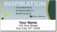 Click on Football Quote Address Labels For More Details