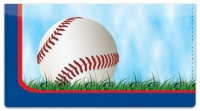 Click on Red & Blue Baseball Fan Checkbook Cover For More Details