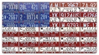 Click on Americana License Plate Checkbook Cover For More Details