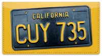 Click on California License Plate Checkbook Cover For More Details