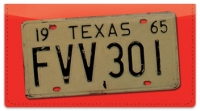 Click on Texas License Plate Checkbook Cover For More Details