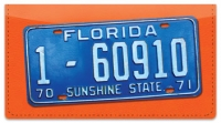 Click on Florida License Plate Checkbook Cover For More Details