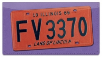 Click on Illinois License Plate Checkbook Cover For More Details