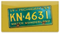 Click on Michigan License Plate Checkbook Cover For More Details