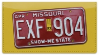 Click on Missouri License Plate Checkbook Cover For More Details
