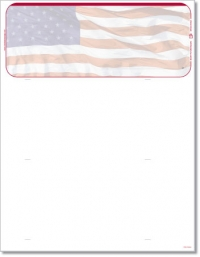 Click on American Flag Blank Check Stock For More Details