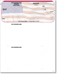 Click on American Flag Top QuickBooks & Quicken Checks For More Details