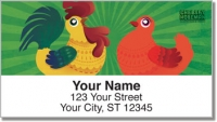 Click on Cartoon Rooster Address Labels For More Details
