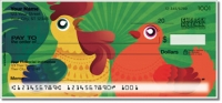 Click on Cartoon Rooster Personal Checks For More Details