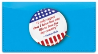 Click on Patriotic Button Checkbook Cover For More Details